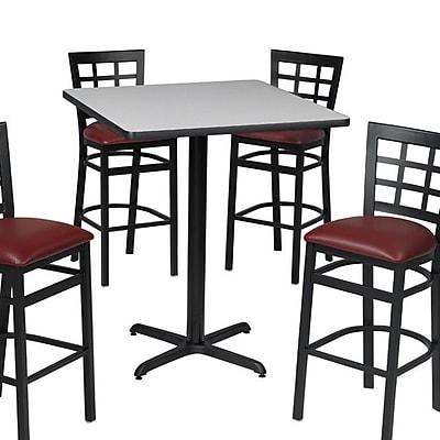 Premier Hospitality Furniture Pub Table; Figured Mahogany