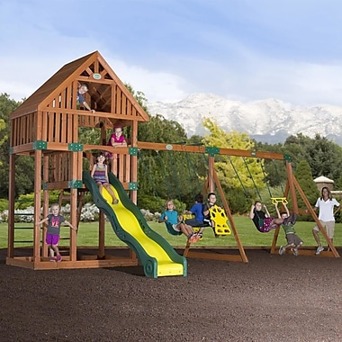 Backyard Discovery Quest Cedar All Cedar Swingset; No