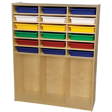 Wood Designs 21 Compartment Cubby w/ Trays; Assorted