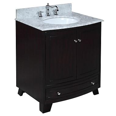 KBC Palazzo 30'' Single Bathroom Vanity Set; Espresso
