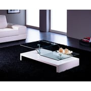 At Home USA Coffee Table; Glossy White Lacquer