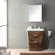 Fresca Milano 26'' Single Sink Modern Bathroom Vanity Set; Rosewood