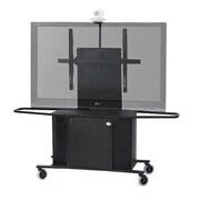 VFI Metal Mobile AV Cart w/ Single Monitor Mount; 75'' H x 53.63'' W x 23.75'' D