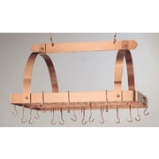 Old Dutch Decor Pot Rack w/ Grid and Hooks; Copper