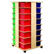 Bird in Hand Double Sided 12 Compartment Cubby w/ Casters