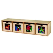 Childcraft See Me 4 Compartment Cubby w/ Bins