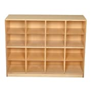 Childcraft 16 Compartment Cubby w/ Casters; 16