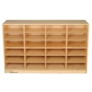 Childcraft Flat 24 Compartment Cubby w/ Casters; 24