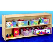 Childcraft Open Shelving Unit w/ Casters; 24'' H x 48'' W x 14.5'' D