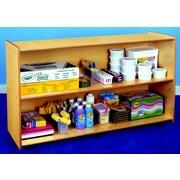 Childcraft Open Shelving Unit w/ Casters; 30'' H x 48'' W x 14.5'' D