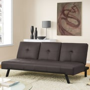 DHP Wynn Cupholder Convertible Sofa; Brown