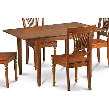 East West Milan 7 Piece Dining Set; Non-Upholstered Wood