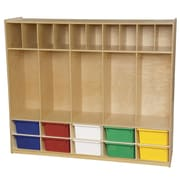 Wood Designs 4 Tier 5 Wide Coat Locker; Assorted