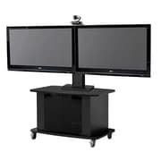 VFI Mobile AV Cart w/ Dual Monitor Mount