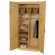 Wood Designs 3 Compartment Classroom Cabinet w/ Doors