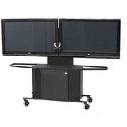 VFI Mobile Metal AV Cart w/ Dual Monitor Mount; 75'' H x 80'' W x 23.75'' D