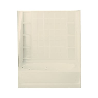 Sterling by Kohler Ensemble 72'' x 46'' Whirlpool Tub and Walls w/ Left Hand Drain; Almond