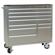 Viper Tool Storage 41.5''W 9-Drawer Tool Chest; Stainless Steel