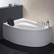 EAGO Single Person Corner 59'' x 39.4'' Whirlpool; Right