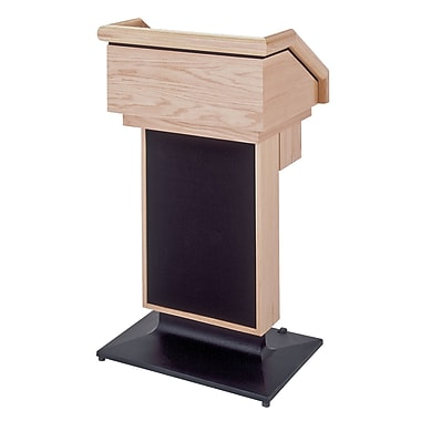 Sound Craft One Series Lectern; Natural Oak