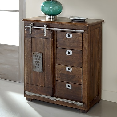 Coast to Coast Imports 4 Drawer 1 Door Accent Cabinet