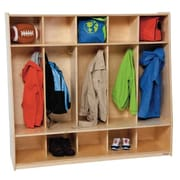 Wood Designs Healthy Kids 3 Tier 5 Wide Coat Locker