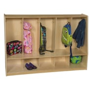 Wood Designs Healthy Kids 2 Tier 5 Wide Coat Locker