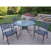 Oakland Living Capitol Mississippi 5 Piece Dining Set; Verdi Gray