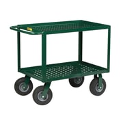 Little Giant USA 41.5'' Perforated Deck Utility Cart w/ Pneumatic Cushion-Load Wheels