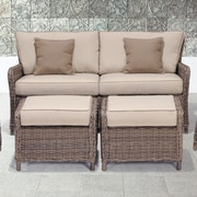 Wildon Home   Abana 3 Piece Sofa and Ottoman Set