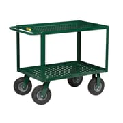 Little Giant USA 53.5'' Perforated Deck Utility Cart w/ Pneumatic Cushion-Load Wheels