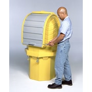 Hard Top and 1 Drum Model 55 Gallon Hazardous Material Receptacle (Set of 2)