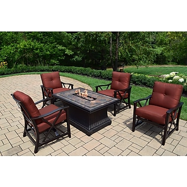 Oakland Living Vienna Dining Table w/ Firepit