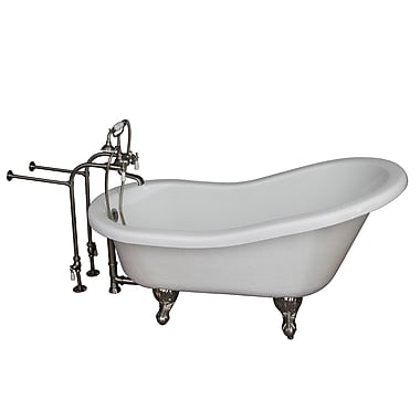 Barclay 60'' x 24.5'' Soaking Bathtub Kit; Brushed Nickel