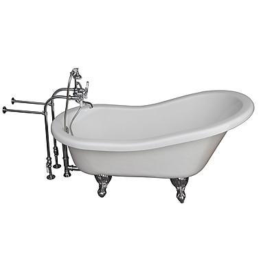 Barclay 60'' x 24.5'' Soaking Bathtub Kit; Chrome