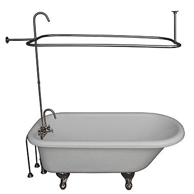 Barclay 67'' x 29.5 Soaking Bathtub Kit; Brushed Nickel