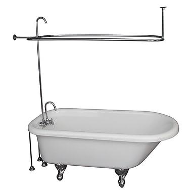 Barclay 60'' x 29.5'' Soaking Bathtub Kit; Chrome