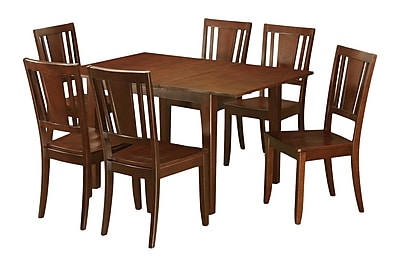 Wooden Importers Picasso 7 Piece Dining Set; Wood Seat