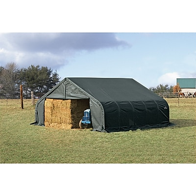 ShelterLogic 22.5 Ft. x 24 Ft. Garage; Green