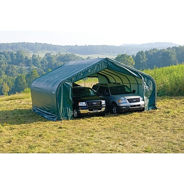 ShelterLogic 22.5 Ft. x 28 Ft. Garage; Green