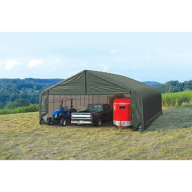 ShelterLogic 29.5 Ft. x 20 Ft. Garage; Green