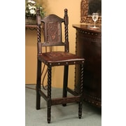 New World Trading Colonial Bar Stool; Antique Brown