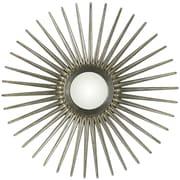 Cooper Classics Sunburst Mirror; Antique Silver