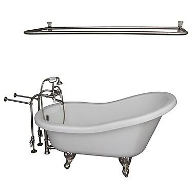 Barclay 67'' x 30'' Soaking Bathtub Kit; Brushed Nickel