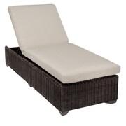 TK Classics Venice Chaise Lounge w/ Cushion; Beige