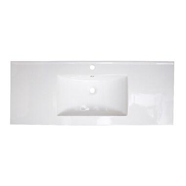 American Imaginations Alum Drop-in 48'' Single Bathroom Vanity Top