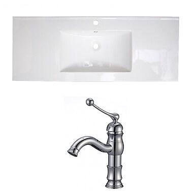 American Imaginations Roxy Single Handle 48'' Single Bathroom Vanity Top