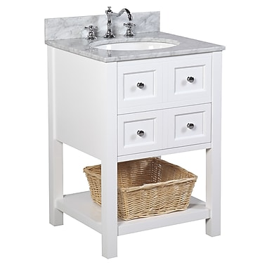 KBC New Yorker 24'' Single Bathroom Vanity Set; White