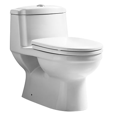 Whitehaus Collection Magicflush Traditional Dual Flush Elongated One-Piece Toilet