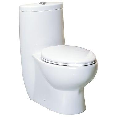 Whitehaus Collection Magicflush Dual Flush Elongated One-Piece Toilet